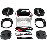 Hill Country Customs J&M Performance Series 2 Speaker and 180 Watt 2 Channel Amp Kit for 2006-2013 Harley-Davidson Electra Street Glide - HC-180-ESG