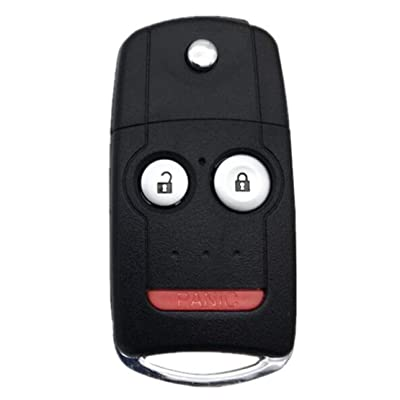 Key Fob Keyless Entry Remote Flip Shell Case with Pad fit for Acura TL TSX RDX Flip Keys: Automotive