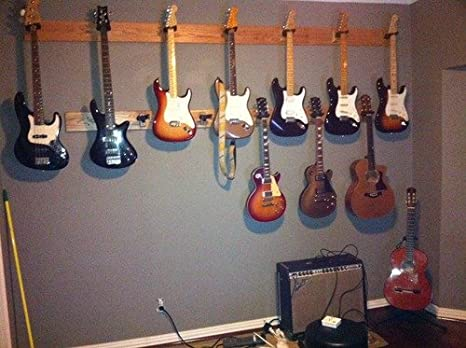 HERCULES Stands GSP38WB PLUS AGS Guitar Wall Hanger with Wood Base