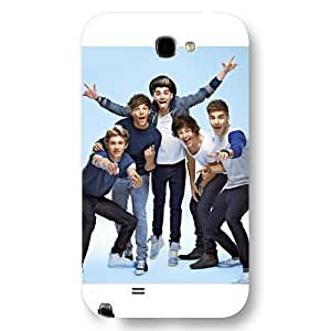 UniqueBox Customized Black Frosted Samsung Galaxy Note 2 Case, One Direction(1D) Samsung Note 2 case hjbrhga1544