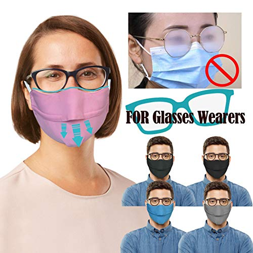 Clacce Stoff Atmungsaktive Passend für Erwachsene für Brillenträger Versteckte Brille Wiederverwendbarer