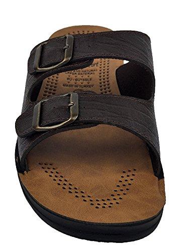 360 Around The World - Zapatillas de estar por casa de Material Sintético para hombre marrón