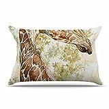 KESS InHouse Wildlife ''Africa 2'' Brown Animals Pillow Sham, 40'' x 20''
