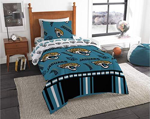 (Jacksonville Jaguars NFL Twin Comforter & Sheets, 4 Piece Bedding, New! + Homemade Wax Melts )