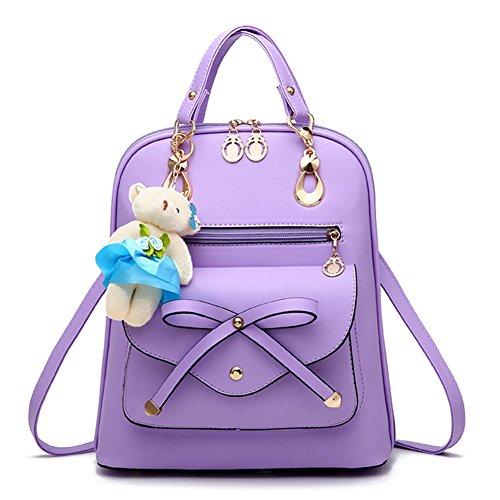 Dos PU avec à Violet Casual Ours Cuir sac dos Rose Sac Femme Mini Sac Sacs à en Loisir Bandoulière à 4P7nZXAxq