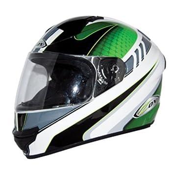 ZOX Thunder 2 verde globo Graphic Full Face casco de moto
