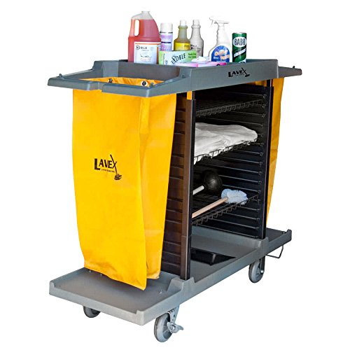 Commercial Adjustable Four Shelf Small Housekeeping Hotel Cart