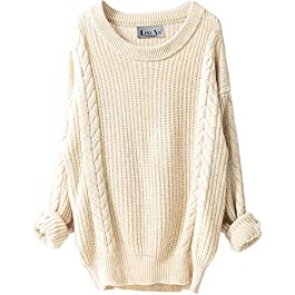 Women's Cashmere Loose Knitted Winter Warm Wool Pullover