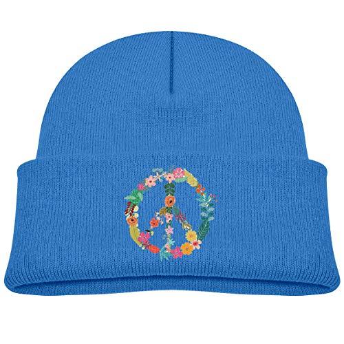 Banana King Peace Sign Flower Baby Beanie Hat Toddler Winter Warm Knit Woolen Watch Cap for Kids ()