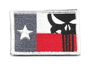 Texas Bandera de calavera de el Castigador parche de Velcro
