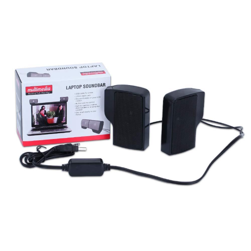 Clip-on Mini Portable USB Stereo Speaker Soundbar for Notebook Laptop Phone PC