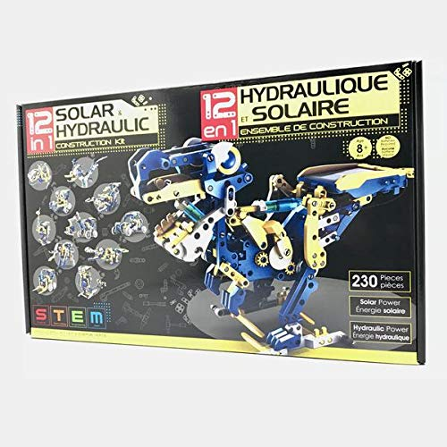 SuperSmartChoices 12-in-1 Solar Hydraulic Robot Kit | 12 Configuration Possible | Powered by The Sun | Great STEM Product