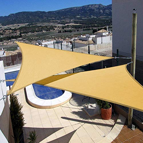 Artpuch 2Pcs 12 x 12 x 12 Triangle Sun Shade Sails Sand UV Block for Shelter Canopy Patio Garden Outdoor Facility