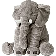 CHICVITA Large Stuffed Elephant Soft Animal Plush Toys, Grey, 24 inch/60cm