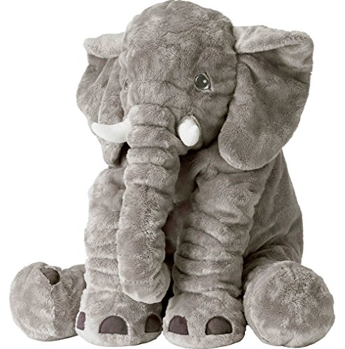 Big Plush Stuffed Animals (Large Stuffed Elephant Soft Animal Plush Toys, Grey, 24 inch/60cm)