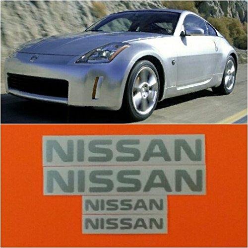 R&G NISSAN & 350Z High Temp Brake Caliper Decal Sticker Set of 4 (Metallic Silver) ()