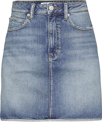 Blue Calvin Faldas Denim Mini Hr J20j208806 Medium Jeans Mujer Western Klein qUqO4v
