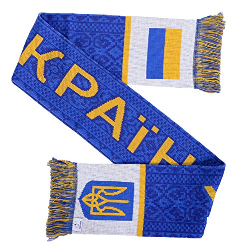 Ukraine Soccer Football - Ukraine Ukraina Soccer Knit Scarf (Blue)