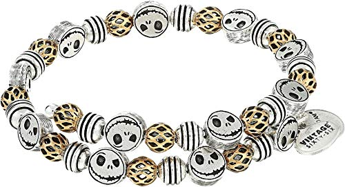 Alex and Ani Women's Nightmare Before Christmas, Jack Skellington Wrap Bracelet Rafaelian Silver One -