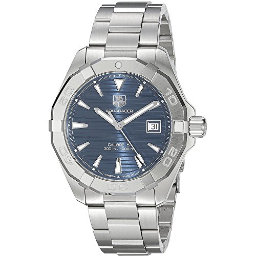 TAG Heuer Men's 'Aquaracer' Swiss Automatic Stainless Steel Dress Watch, Color: Silver-Tone (Model: WAY2112.BA0928) (Link Swiss Tag Heuer)