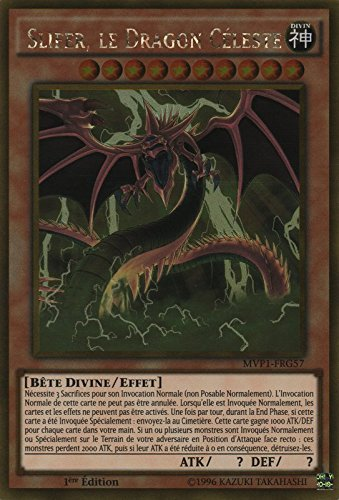 "Carte Yu-Gi-Oh! ""Slifer, le Dragon Céleste"" MVP1-FRG57 - VF/GOLD"