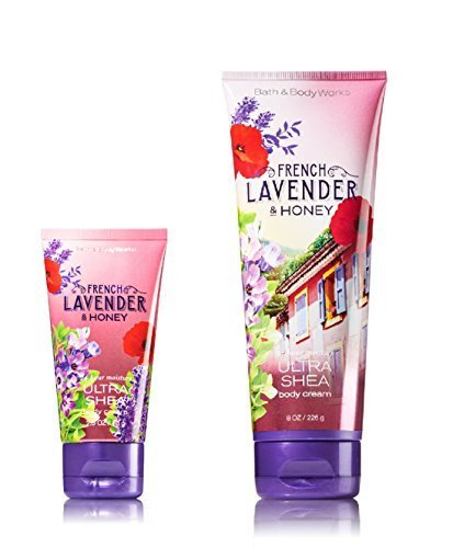 Bath & Body Works One for home & One for Travel – ULTRA SHEA Body Cream Set – French Lavender & (French Lavender Honey)