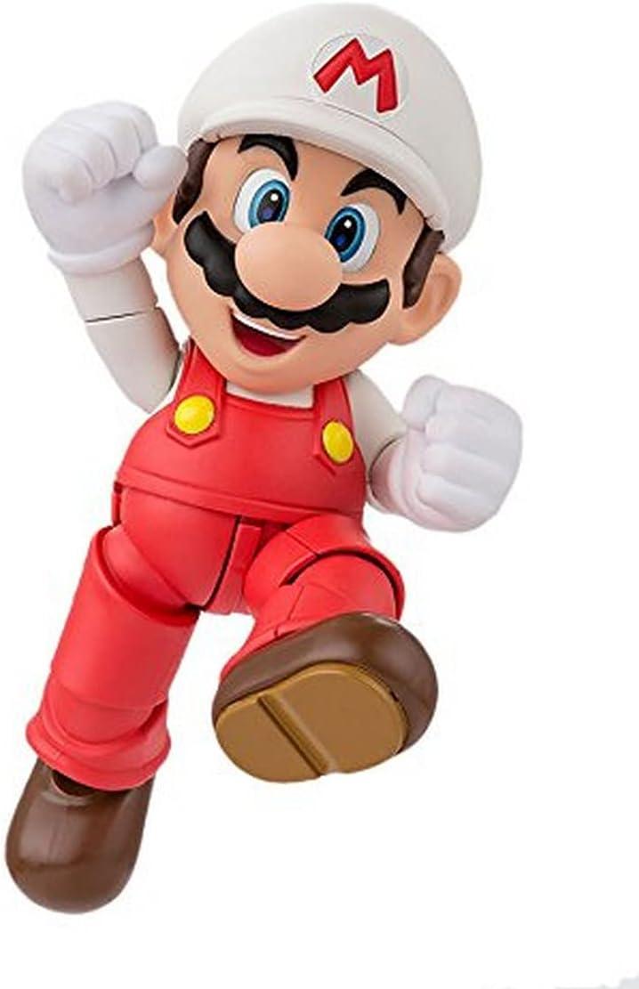 TAMASHII NATIONS Bandai S.H.Figuarts Fire Mario Super Mario Action Figure