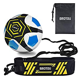 BROTOU Soccer Kick Trainer/Training Aid for Kids Fits Soccer Ball Size 3, 4, 5