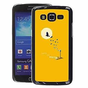 A-type Arte & diseño plástico duro Fundas Cover Cubre Hard Case Cover para Samsung Galaxy Grand 2 (Bird Tree Minimalist Moon Sun)