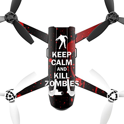 MightySkins Protective Vinyl Skin Decal for Parrot Bebop 2 Quadcopter Drone wrap cover sticker skins Kill Zombies by MightySkins