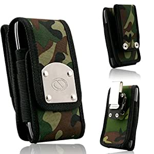 Gladiator Hunter Camo Canvas Super Strong Rugged Duty Belt Case with Metal Clips for ZTE Render