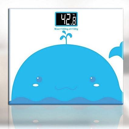 JTHKX Mini Balanza electrónica Dibujos Animados Precisión Báscula de baño Báscula de Peso Hogar Adulto Salud