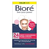 Biore Deep Cleansing Pore Strips for Nose & Face, 24-Count Combo Pack