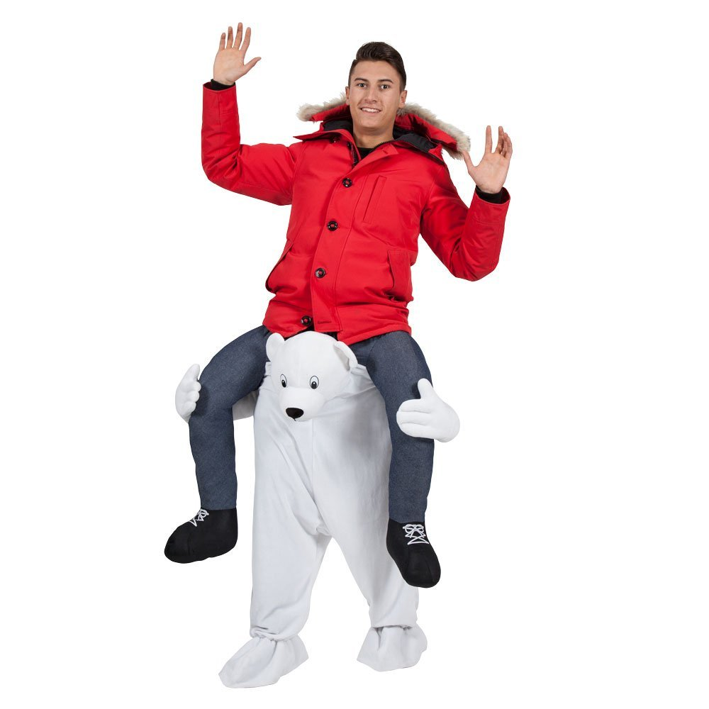 Carry Me Polar Bear - Adult Costume Adult - One Dimensione