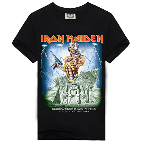 Iron Maiden-Somewhere In Time Cool Tshirt Design Popular Graphic Tee For Guys XL