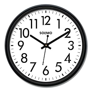 Amazon Brand – Solimo 12-inch Wall Clock, Black