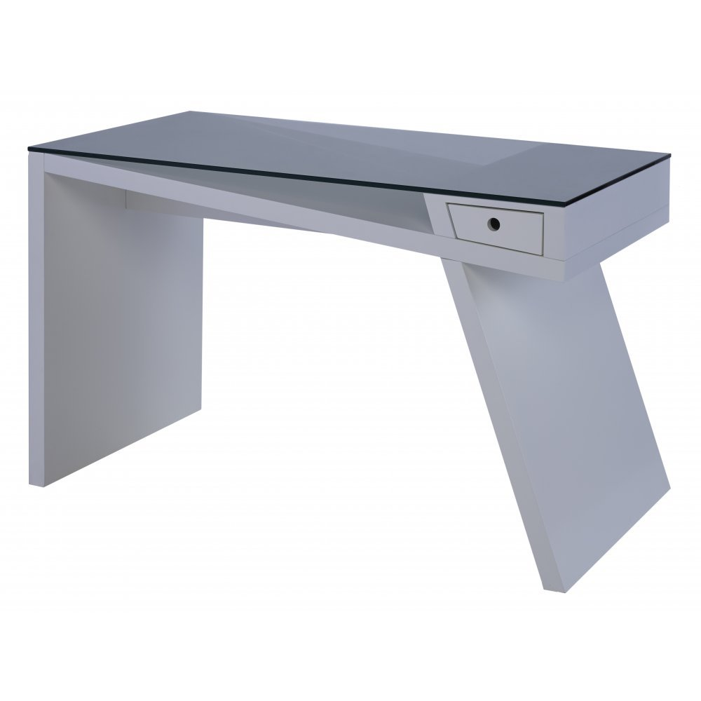 Gillmore Space White Matt Lacquer Angular Console Desk