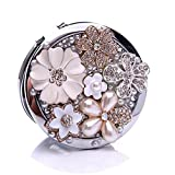 Purse Compact Mirror Double Sided 5x Magnifying Makeup Tool for Travel Gift