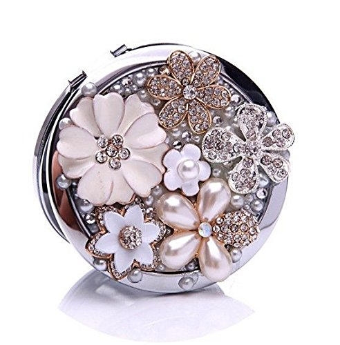 Purse Compact Mirror Double Sided 5x Magnifying Makeup Tool for Travel Gift Make up mirror