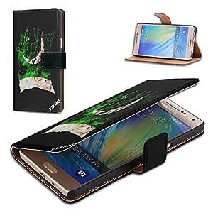 Bandera Rasgada Pakistan, Negro Funda de Piel Cuero Case Magnética con Función de Soporte Carcasa con Diseño Colorido para Samsung Galaxy A3 A300