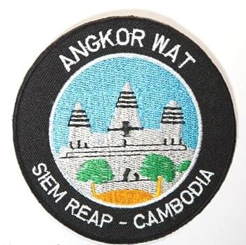 ... Siem Reap Camboya Parche 9 cm Hierro Bordado en Insignia, diseño de templos de Viaje Souvenir DIY Camiseta Chaqueta Equipaje Mochila: Amazon.es: Hogar