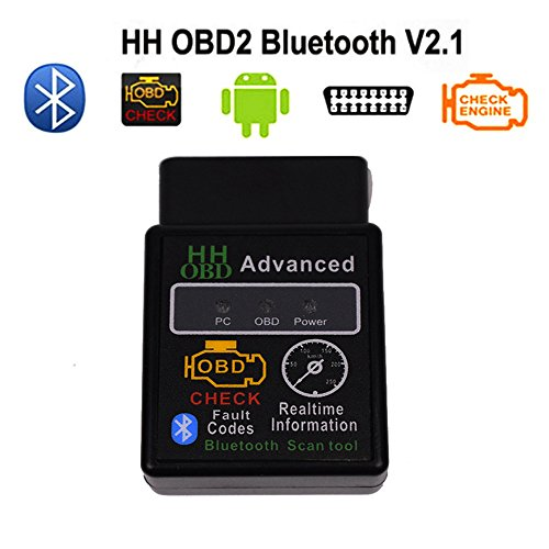 HH OBDII V2.1 Protocolos Car Code Scanner ELM327 Bluetooth Car Diagnostic -Tool ELM 327 Version OBD 2/OBDII V2.1 for Android Torque Car Auto Code Scanner Diagnostic Tool (Hardware Diagnostic Tools)