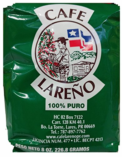 Cafe Lareno Puerto Rican Coffee 8 Ounce Bag