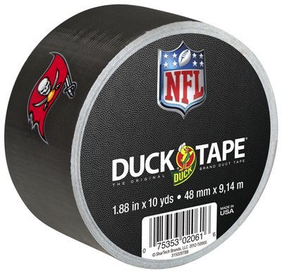 Shurtech Brands 240550 NFL Duct Tape, Tampa Bay Buccaneers, 1.88-In. x 10-Yd. - Quantity ()