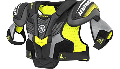 Warrior Qxspyth7 Qx Youth Shoulder Pad, Black/Yellow, Large/X-Large -