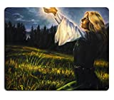 MSD Mousepad IMAGE 35819539 Stain Resistance Kit Kitchen Table Top Desk C beautiful painting oil on canvas of a mystical young woman in green emerald medieval