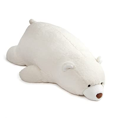 "GUND Snuffles Laying Down Teddy Bear Stuffed Animal Plush, White, 27"": Toys & Games"
