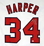 Bryce Harper Washington Nationals Signed Autographed White #34 Jersey PAAS COA