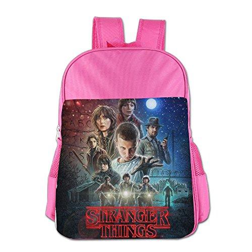 Price comparison product image Duola Stranger Thing Children Cartoon School Bag Pink