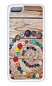 Screw Clasp Essential Phone Case For iPhone 5C - Summer Unique Cool 5c Cases White Soft Edge